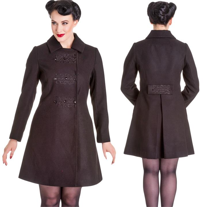 [Special Order] Hell Bunny Kira Coat – Black (XS-XL Only)