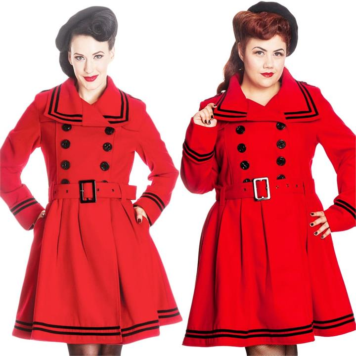 [Special Order] Hell Bunny Millie Coat – Red (2X, 3X, 4X Only)