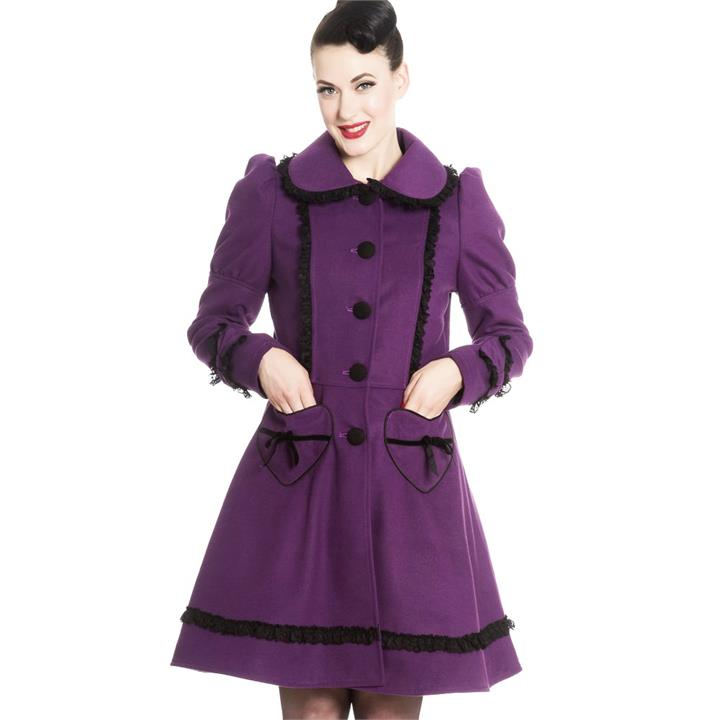[Special Order] Hell Bunny Courtney Coat – Purple (XS – XL Only)
