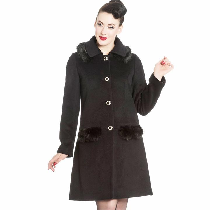 [Special Order] Hell Bunny Juliette Coat – Black (XS-XL Only)