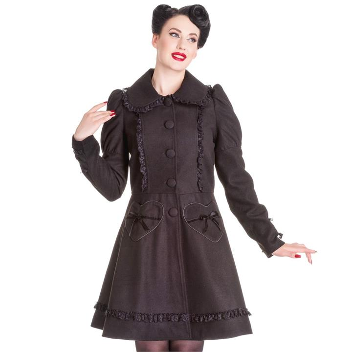 [Special Order] Hell Bunny Courtney Coat – Black (XS, S, M, L, XL, 3XL Only)