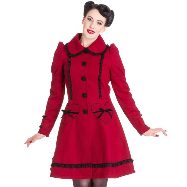 [Special Order] Hell Bunny Courtney Coat – Burgundy