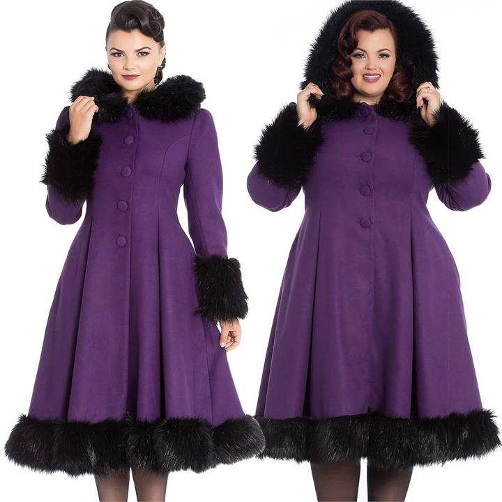 [Special Order] Hell Bunny Elvira Coat – Purple