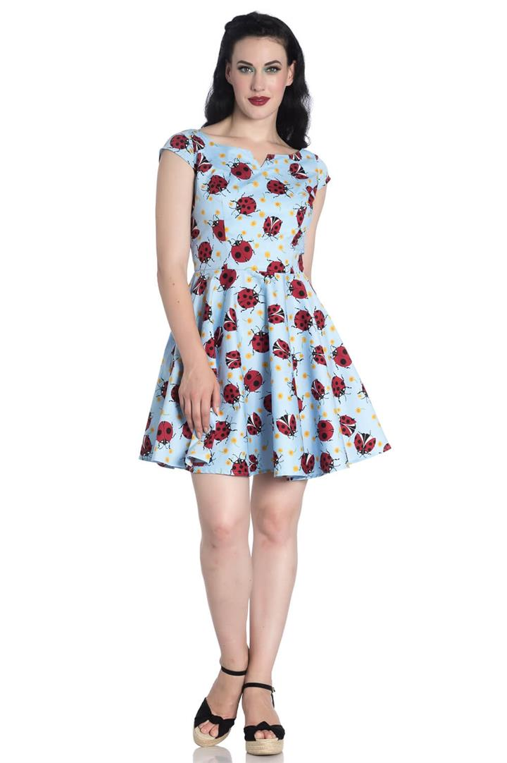 [Special Order] Hell Bunny Lila Lady Birds Mini Dress (XS – XL Only)
