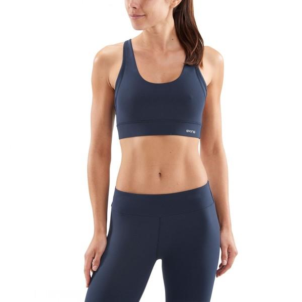 Skins DNAmic Soft Womens Sports Bra – Navy Blue