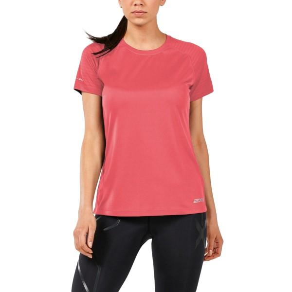 2XU X-Vent Womens Short Sleeve Running T-Shirt – Spiced Coral