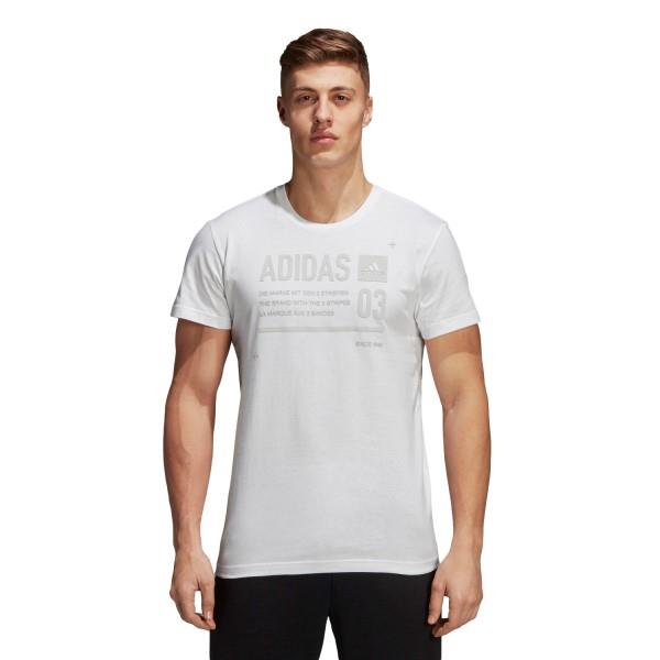 Adidas ID Lineage Mens Casual T-Shirt – White