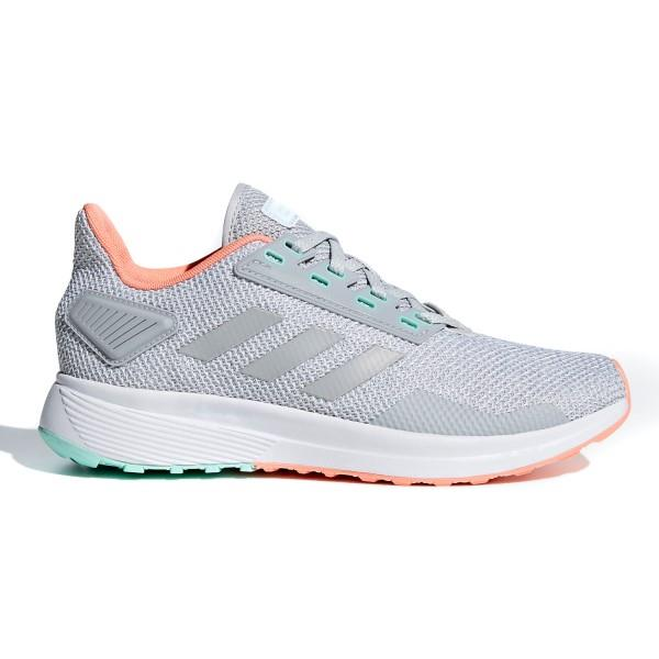 Adidas Duramo 9 – Womens Running Shoes – Grey/Chalk Coral/Green