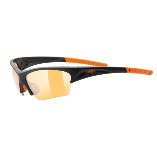 UVEX Sunsation – Multi Sport Sunglasses – Black/Orange