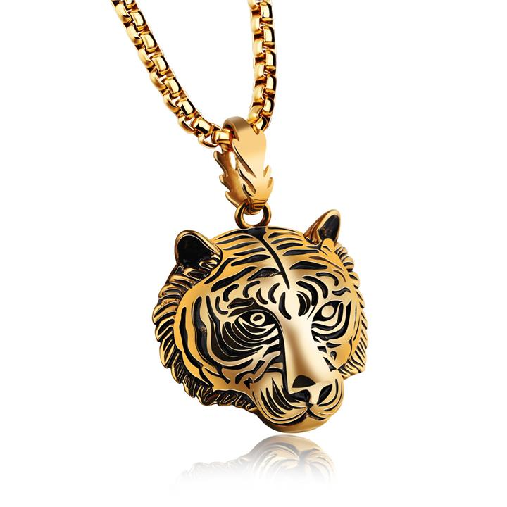 Men's Stainless Steel Tiger Necklace