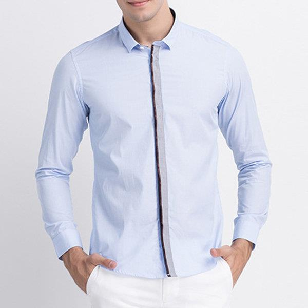 Stylish Stitching Closure Button Up Designer Shirts for Men