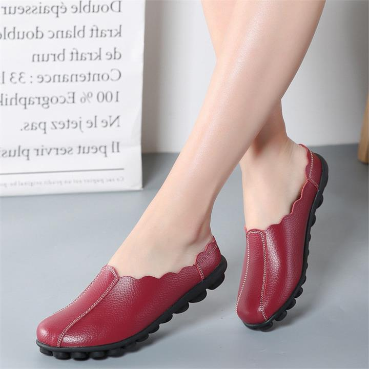 Comfortable Slip On Soft Flat Backless Loafers