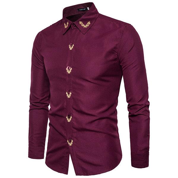 Casual Bussiness Solid Color Long Sleeve Shirts