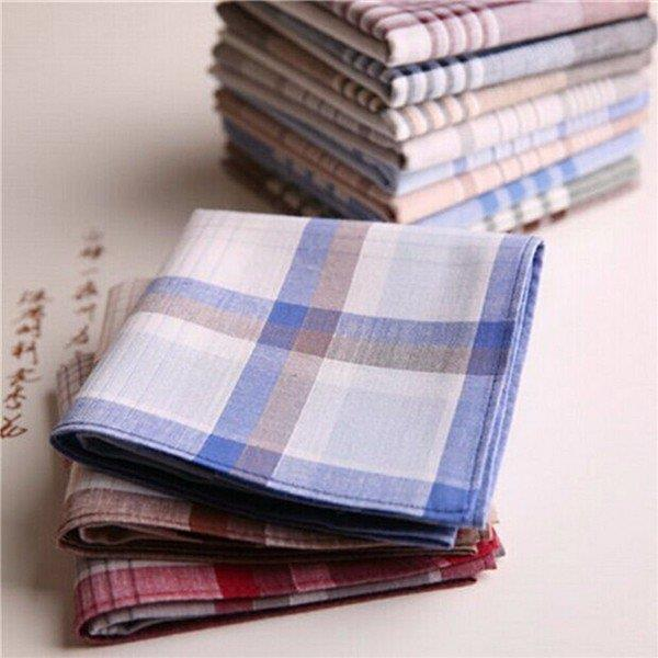 15x Mens Handkerchiefs Cotton Pocket Square Hanky Handkerchief 40x40cm