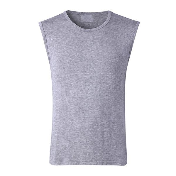 Mens Solid Color Tank Tops Sport Sleeveless Casual Modal Bottoming Tops
