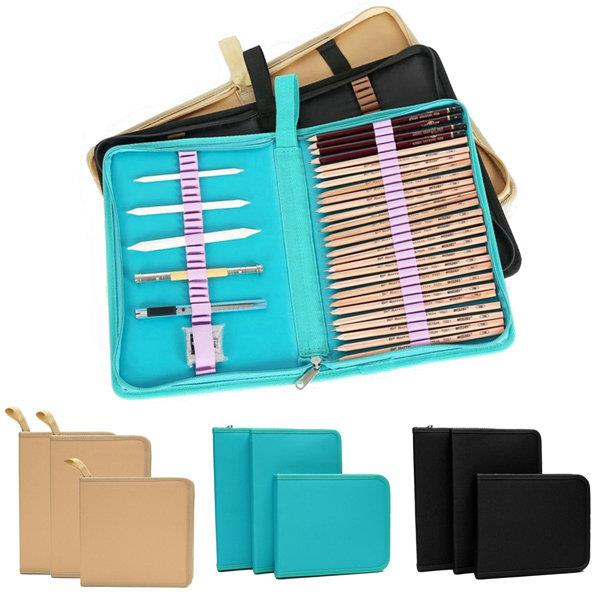 36/48/72 Holes High-capacity Color Pencil Pen Case Storage Bag Pouch for Art Sketch Drawing