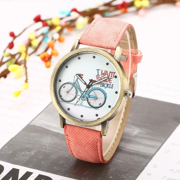 Casual Alloy Denim Cartoon Watch for Women/Men