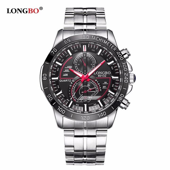 LONGBO Stainless Steel Quartz Watches