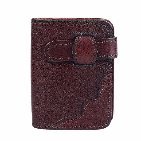 20 Card Slots Genuine Leather Card Holder Cowhide Vintage Casual Wallet