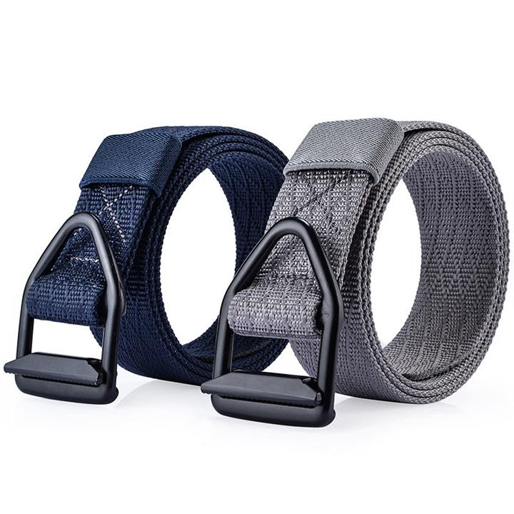 120CM Men Metal Alloy Buckle Nylon Belt Military Tactical Durable Outdoor Sport Pants Strip