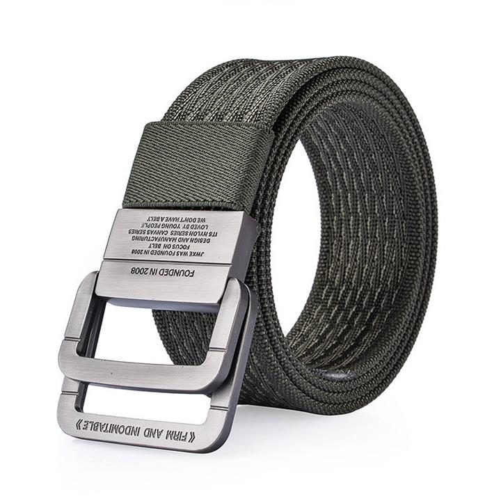 120CM Men Nylon Double Ring Alloy Buckle Belt Outdoor Sport Military Tactical Durable Pants Strip