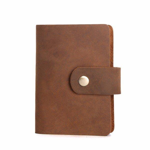 26 Card Slots Genuine Leather Card Holder Cowhide Vintage Card Bag For Women Men