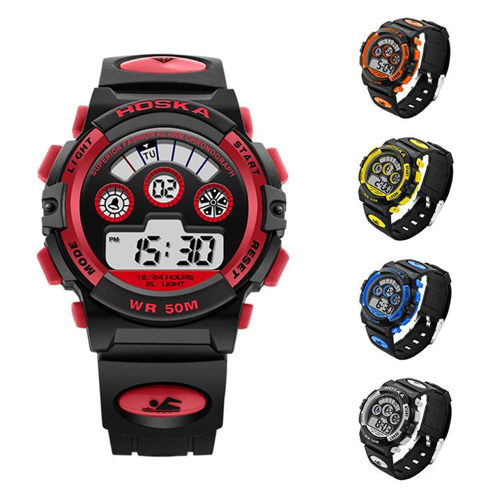 HOSKA Men Sport Waterproof Watch