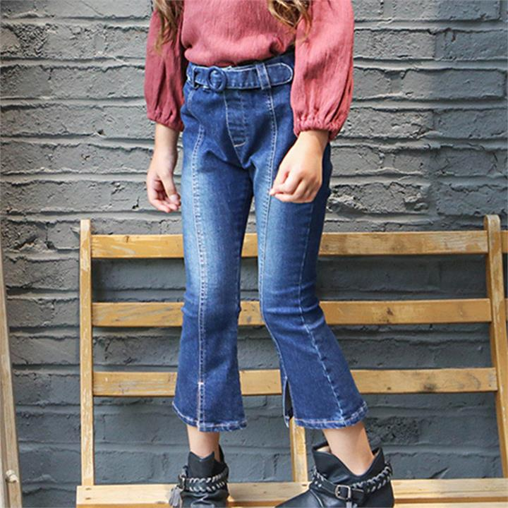 Blue Cool Ripped Girls Jeans