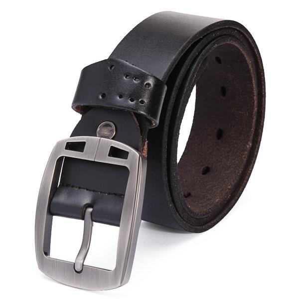 115cm Men's Jeans Pin Buckle Leisure Cowhide Leather Belt