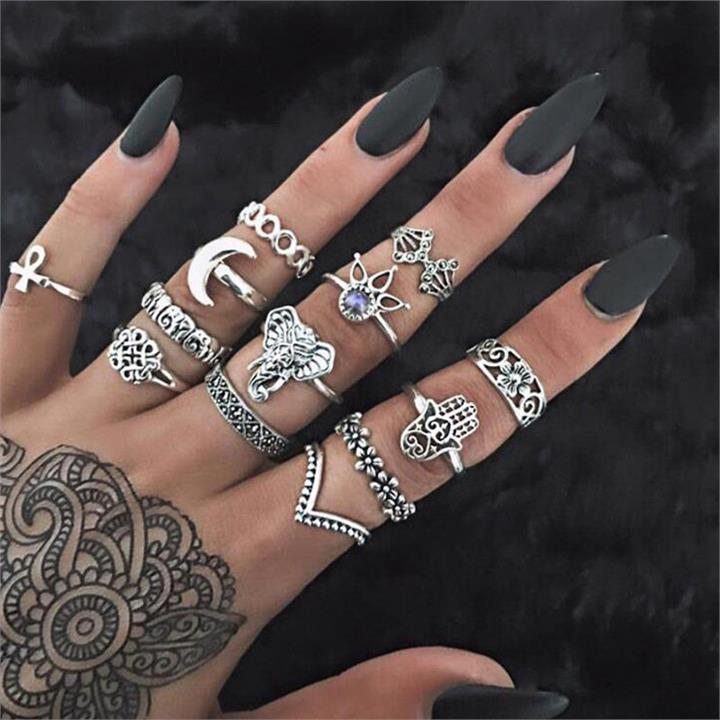 13 Pcs Bohemian Ring Set