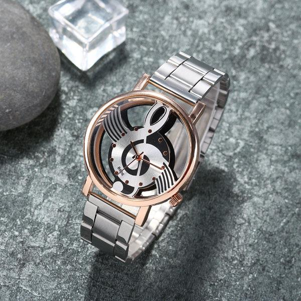 Hollow Musical Note Steel Watches