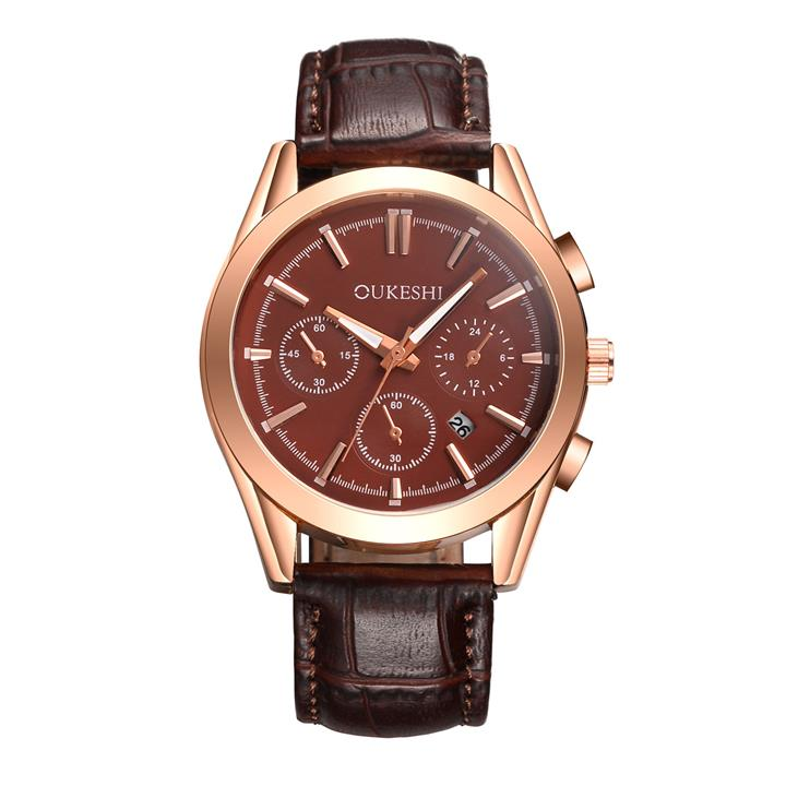 Men's Leather Business Watches
