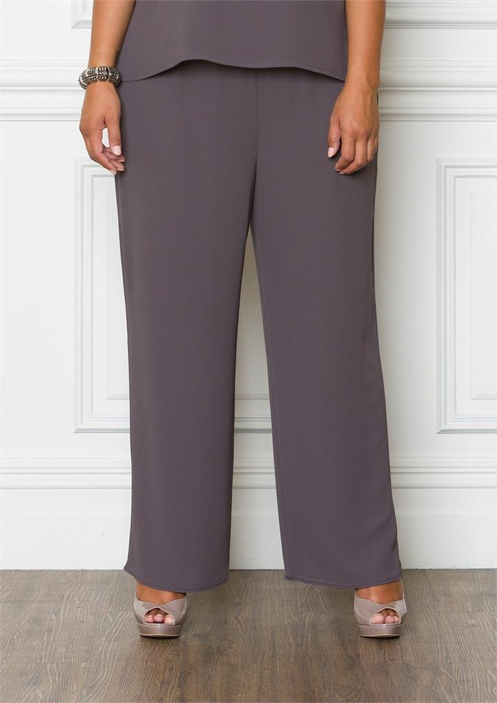32020 Georgette Pant, 12 / Charcoal