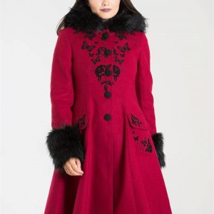 [Special Order] Hell Bunny Anderson Coat – Red/Black