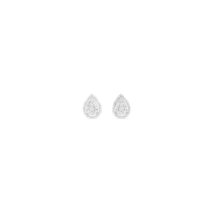 0.50ct Diamond Pear Shape Studs in 9ct White Gold