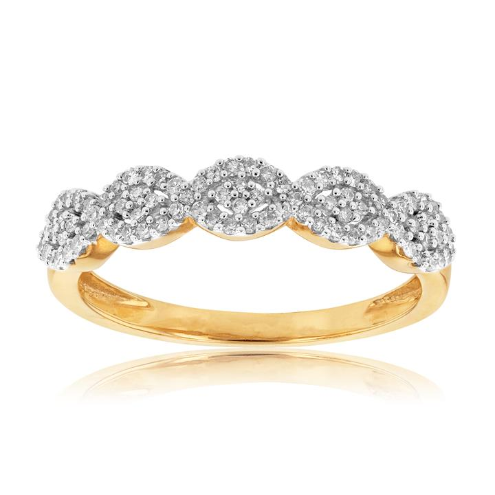 0.25ct Diamond Marquise Shaped Dress Ring in 9ct Gold